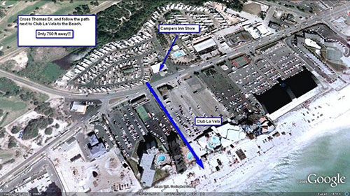 Frequent Questions - Beach Access Map | Campers Inn Panama City Beach
